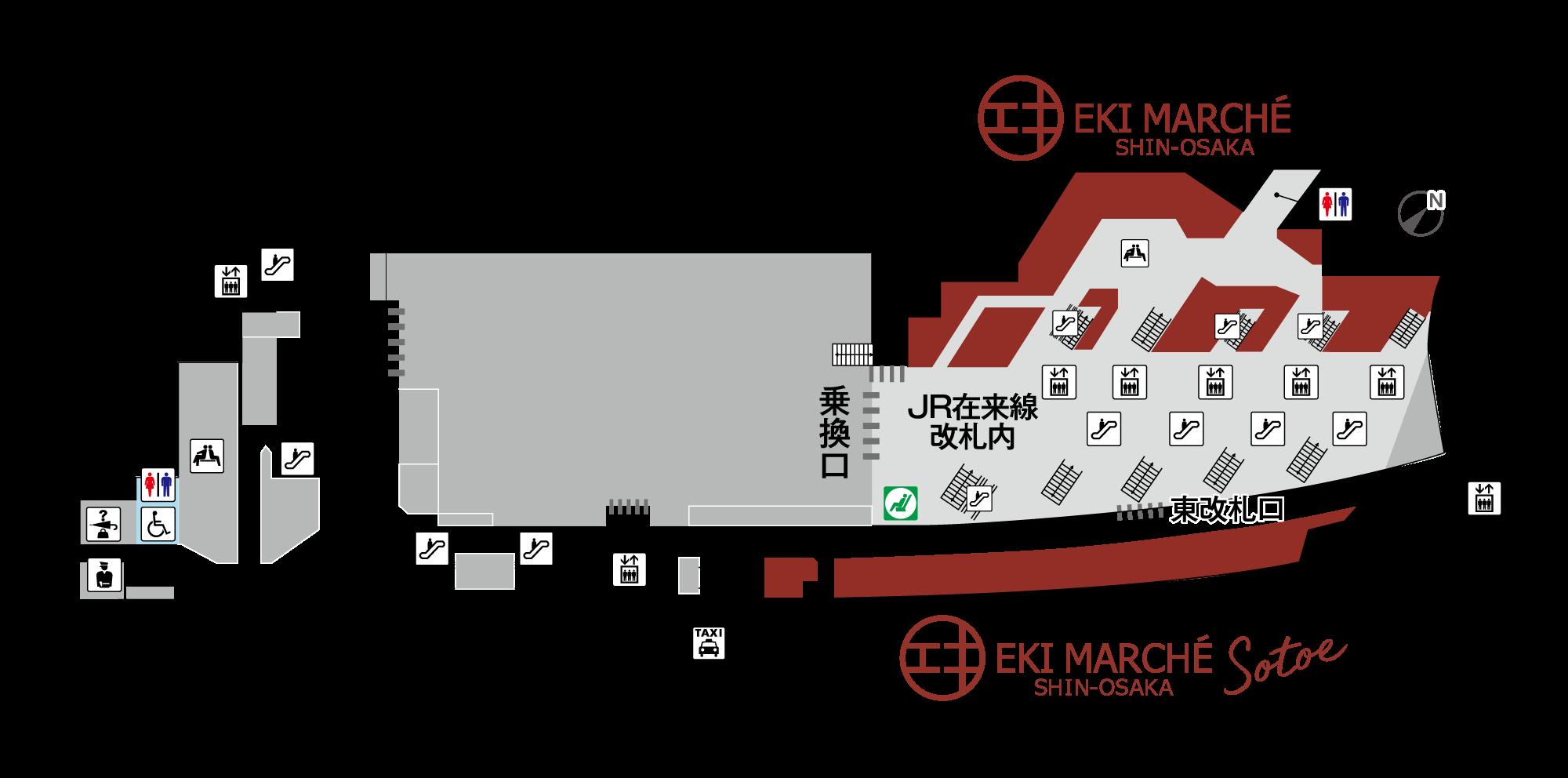 エキマルシェ新大阪地図